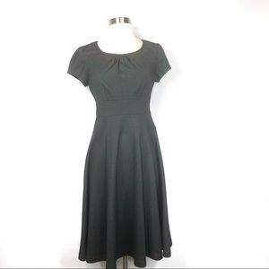 Boden Grey Fit n Flare Dress Size 4R